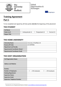 Global Opportunities & Exchanges. Training Agreement