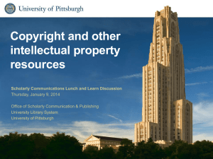 Copyright and other intellectual property resources