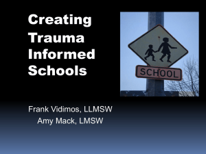 Creating Trauma Informed Schools