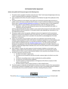 ULS Standard Author Agreement  1.