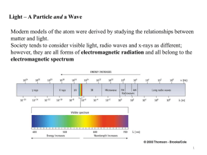 Modern models of the atom were derived by studying the... matter and light. and