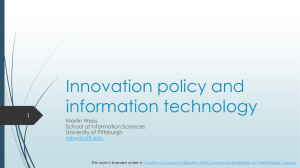 Innovation policy and information technology 1 Martin Weiss