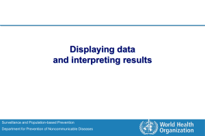 Displaying data and interpreting results Surveillance and Population-based Prevention