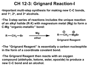 CH 12-3: Grignard Reaction-I