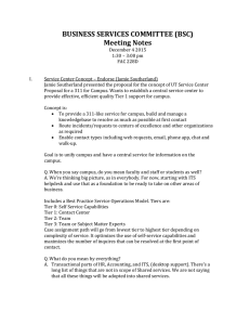 BUSINESS SERVICES COMMITTEE (BSC) Meeting Notes