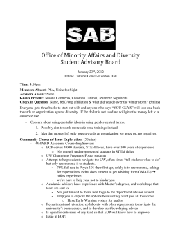 Office of Minority Affairs and Diversity Student Advisory Board