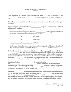 PHASED RETIREMENT AGREEMENT Attachment A