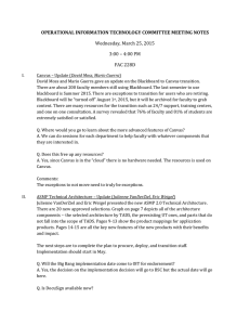 OPERATIONAL INFORMATION TECHNOLOGY COMMITTEE MEETING NOTES Wednesday, March 25, 2015 FAC 228D