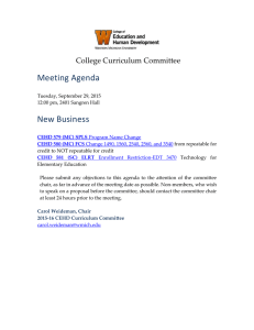 Meeting Agenda New Business College Curriculum Committee