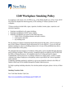 1240 Workplace Smoking Policy