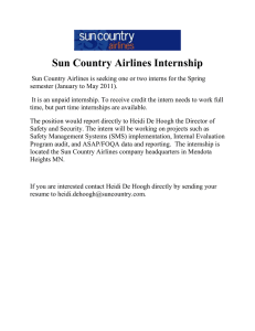 Sun Country Airlines Internship