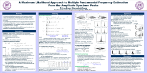 A Maximum Likelihood Approach to Multiple Fundamental Frequency Estimation