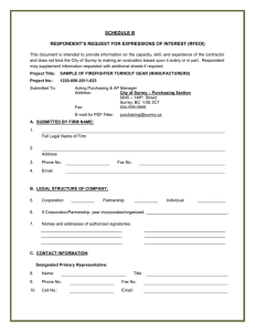 SCHEDULE B RESPONDENT'S REQUEST FOR EXPRESSIONS OF INTEREST (RFEOI)