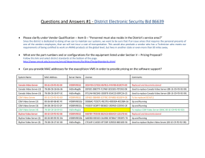 Questions and Answers #1 - District Electronic Security Bid 86639