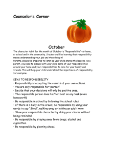 Counselor's Corner  October