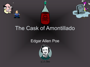 The Cask of Amontillado Edgar Allen Poe