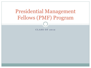Presidential Management Fellows (PMF) Program