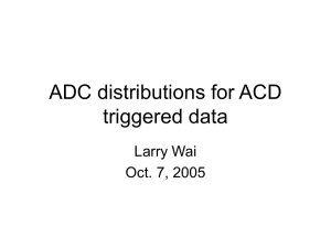 ADC distributions for ACD triggered data Larry Wai Oct. 7, 2005