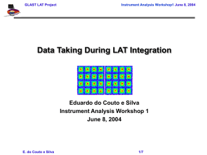 Data Taking During LAT Integration Eduardo do Couto e Silva