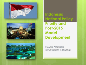 Indonesia National Policy Priority and Post-2015