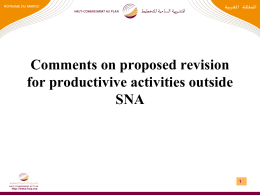 Comments on proposed revision for productivive activities outside SNA 1
