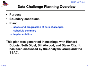 Data Challenge Planning Overview