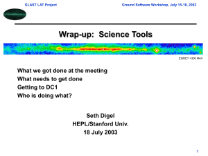 Wrap-up:  Science Tools