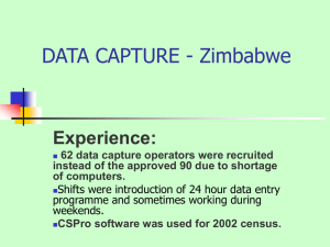DATA CAPTURE - Zimbabwe Experience: