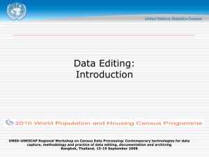 Data Editing: Introduction