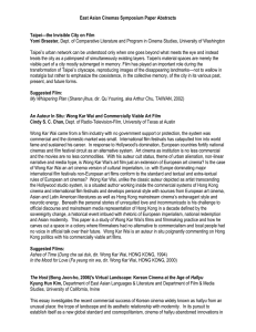 East Asian Cinemas Symposium Paper Abstracts  Taipei—the Invisible City on Film