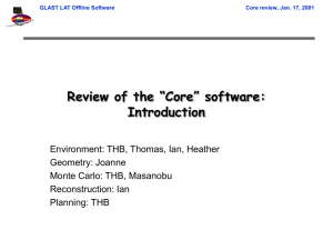 "Review of the ""Core"" software: Introduction"