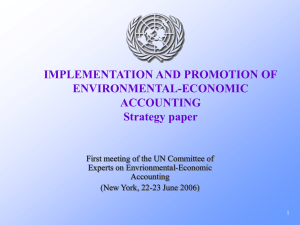 IMPLEMENTATION AND PROMOTION OF ENVIRONMENTAL-ECONOMIC ACCOUNTING Strategy paper