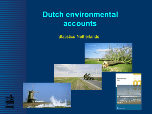 Dutch environmental accounts Statistics Netherlands