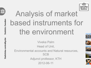 Analysis of market based instruments for the environment