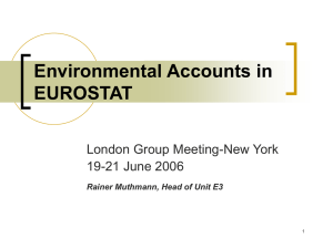 Environmental Accounts in EUROSTAT London Group Meeting-New York 19-21 June 2006