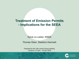 Treatment of Emission Permits - Implications for the SEEA