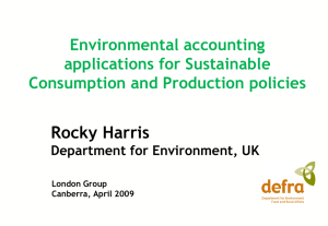 Rocky Harris Environmental accounting applications for Sustainable Consumption and Production policies