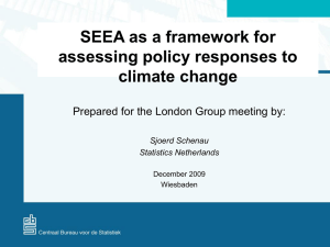 SEEA as a framework for assessing policy responses to climate change