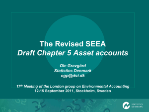 The Revised SEEA Draft Chapter 5 Asset accounts Ole Gravgård Statistics Denmark