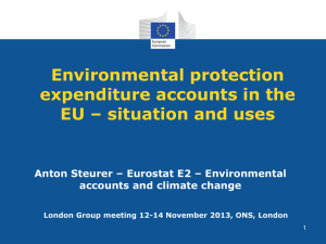 Environmental protection expenditure accounts in the EU – situation and uses