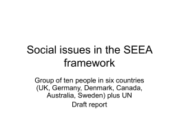 Social issues in the SEEA framework