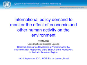 International policy demand to monitor the effect of economic and environment
