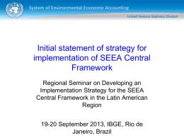 Initial statement of strategy for implementation of SEEA Central Framework