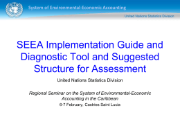 SEEA Implementation Guide and Diagnostic Tool and Suggested Structure for Assessment