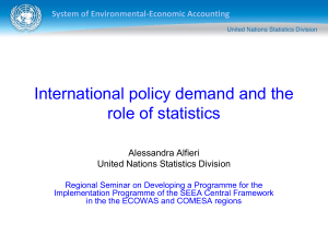 International policy demand and the role of statistics System of Environmental-Economic Accounting