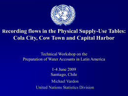 ecording flows in the Physical Supply-Use Tables: R Technical Workshop on the