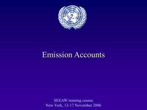 Emission Accounts SEEAW training course New York, 13-17 November 2006