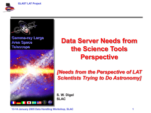 Data Server Needs from the Science Tools Perspective