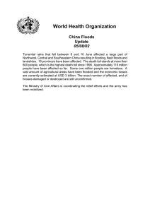 World Health Organization China Floods Update