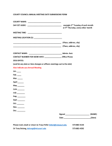 COUNTY COUNCIL ANNUAL MEETING DATE SUBMISSIONS FORM